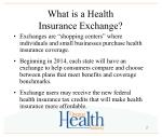 what is a health insurance exchange