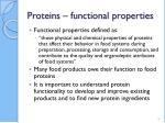 proteins functional properties