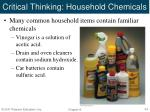 critical thinking household chemicals