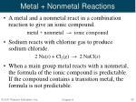 metal nonmetal reactions