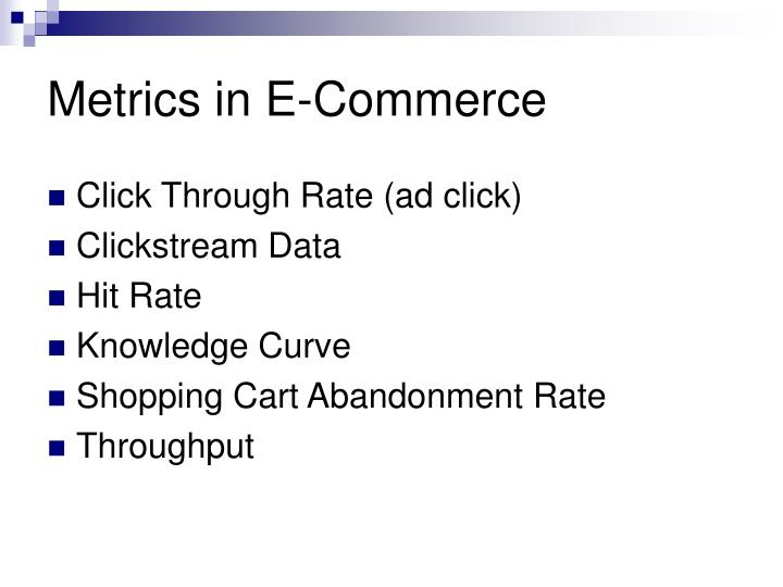 Metrics in E-Commerce