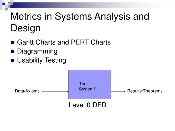 Metrics in Systems Analysis and Design