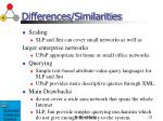 differences similarities