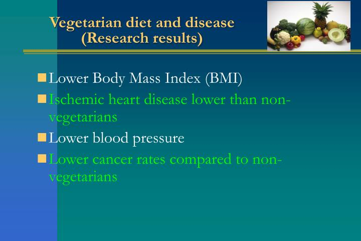 Vegetarian diet and disease
