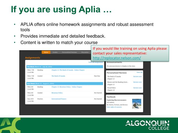 answers to aplia accounting assignments Students with access to aplia's resources through their schools can find assignment answers after completing an assignment many of aplia's courses provide immediate feedback on a student's assignment performance, including answer explanations.