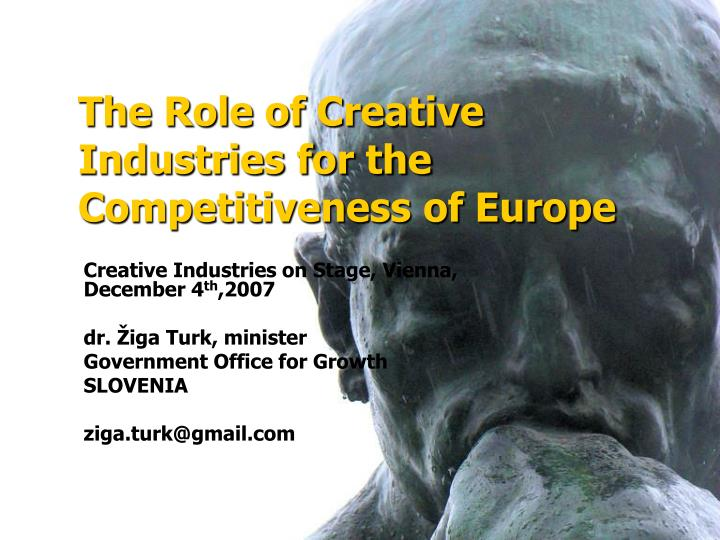 the role of creative industries for the competitiveness of europe n.