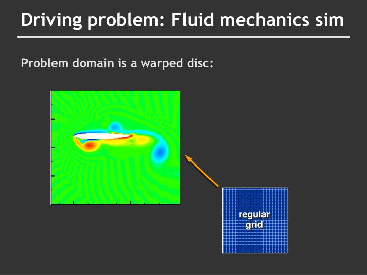 Driving problem: Fluid mechanics sim