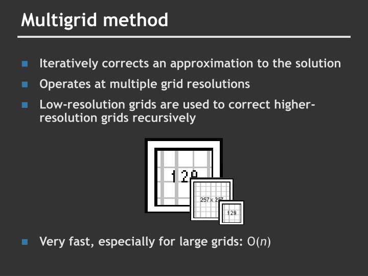 Multigrid method