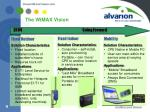 the wimax vision