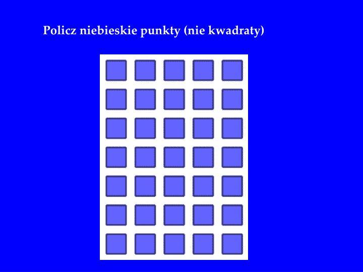 Policz niebieskie punkty (nie kwadraty)