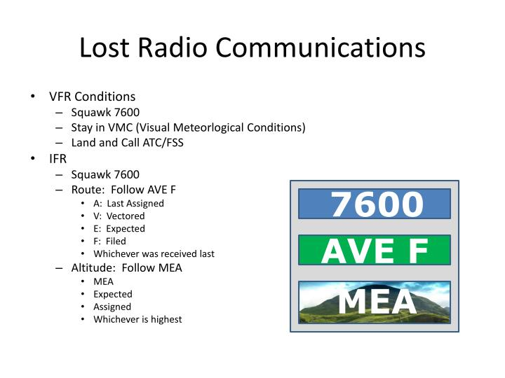 Lost Radio Communications