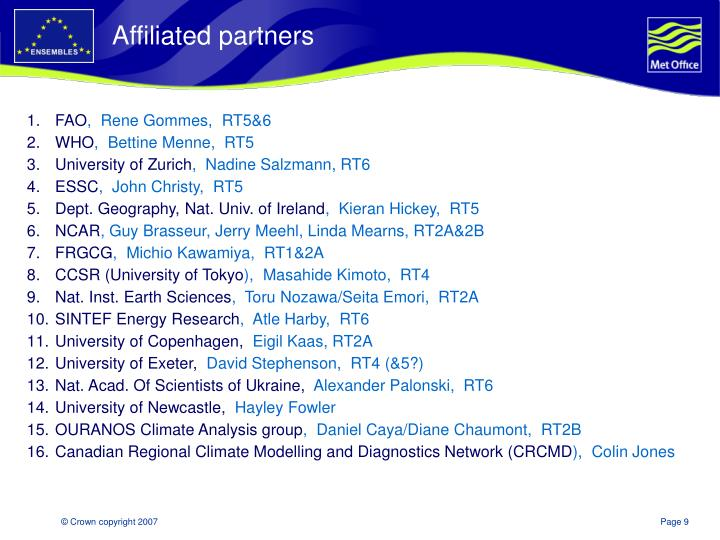 Affiliated partners