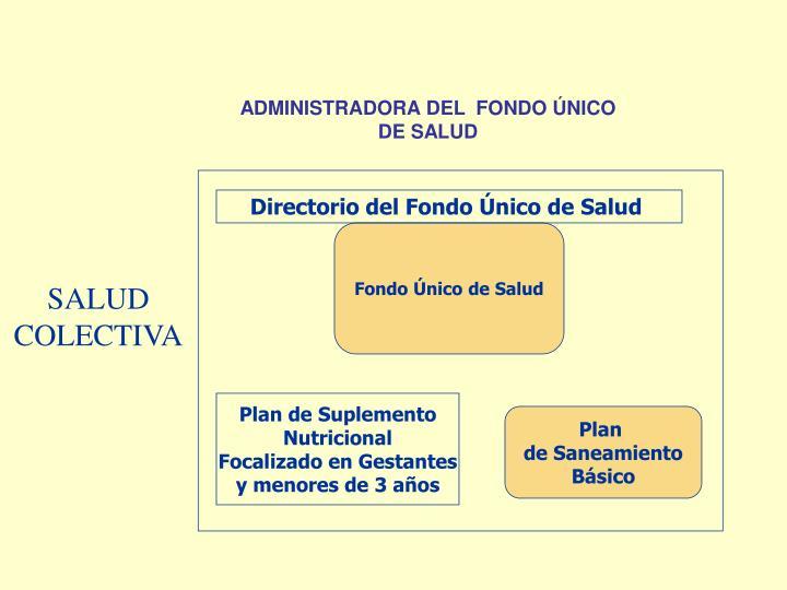 ADMINISTRADORA DEL  FONDO ÚNICO DE SALUD