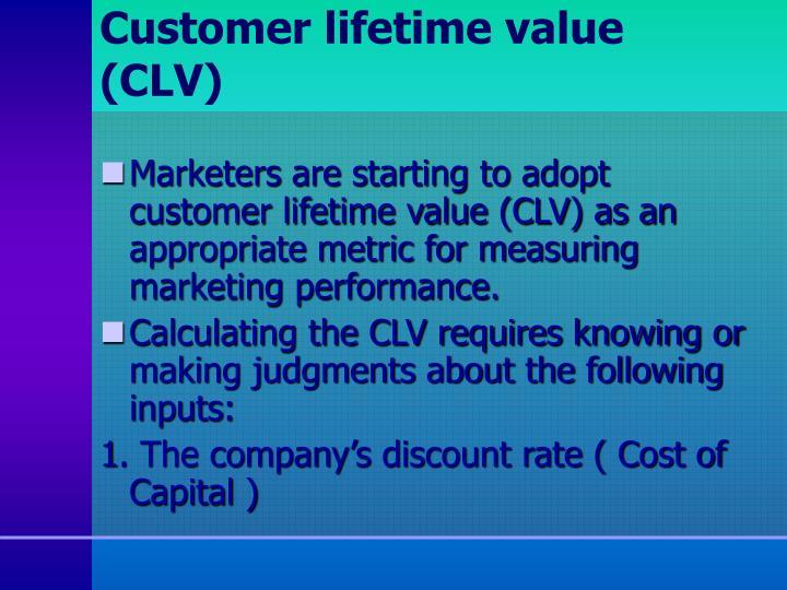 Customer lifetime value (CLV)