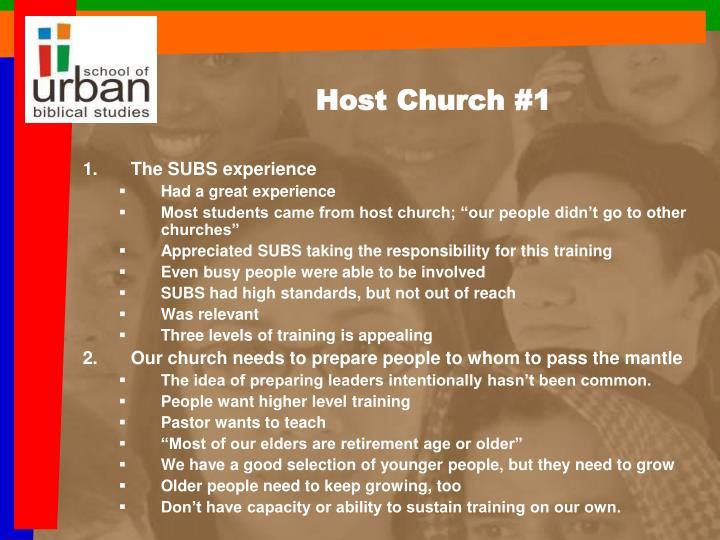 Host Church #1