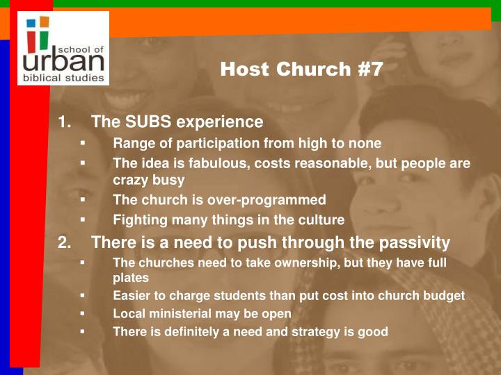 Host Church #7