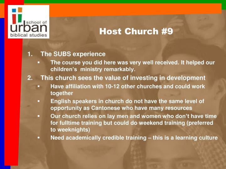 Host Church #9