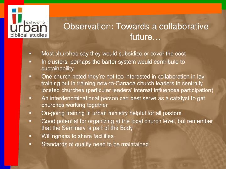 Observation: Towards a collaborative future…