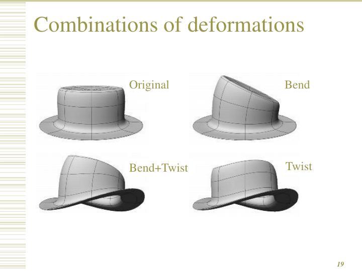 Combinations of deformations