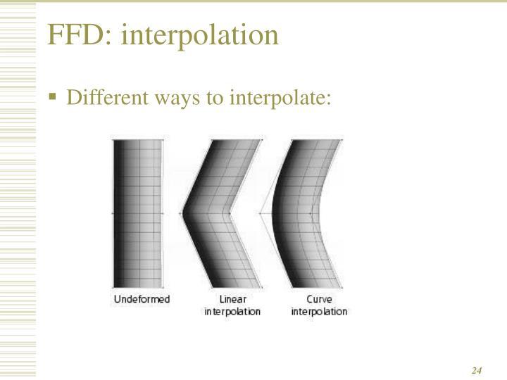 FFD: interpolation