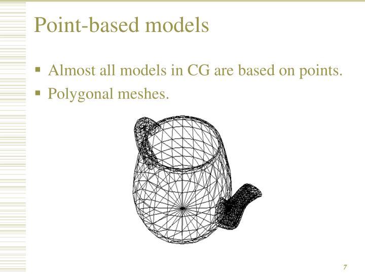 Point-based models