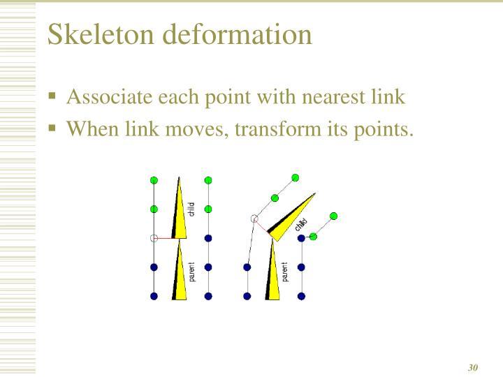 Skeleton deformation