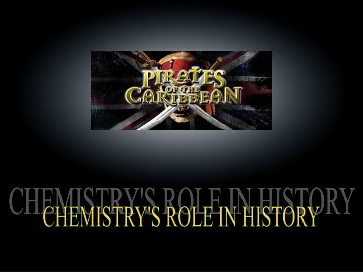 CHEMISTRY'S ROLE IN HISTORY