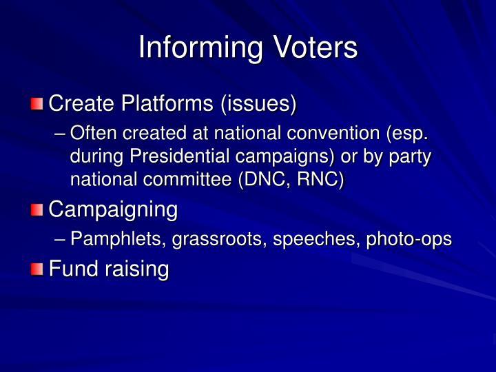 Informing Voters