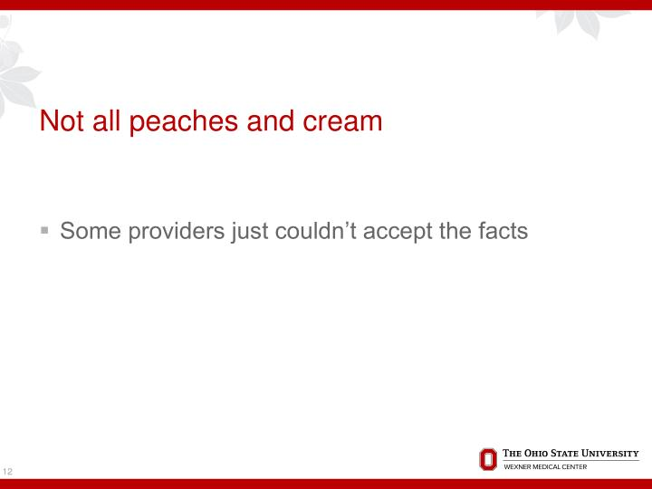 Not all peaches and cream