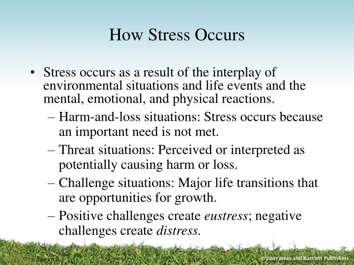 How stress occurs