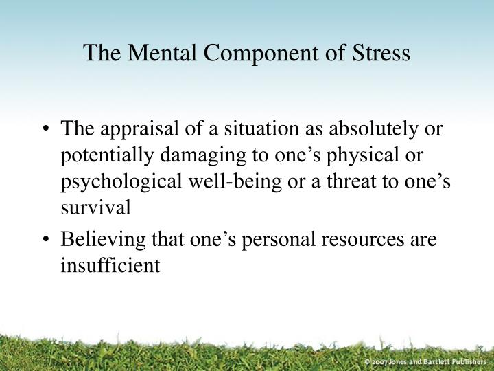 The mental component of stress
