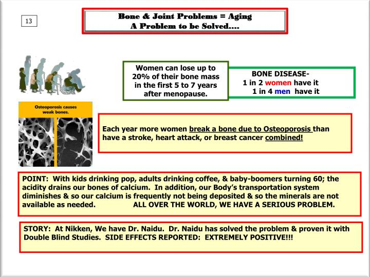 Bone & Joint Problems = Aging