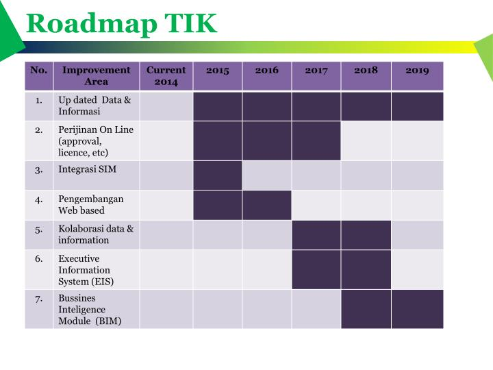 Roadmap TIK