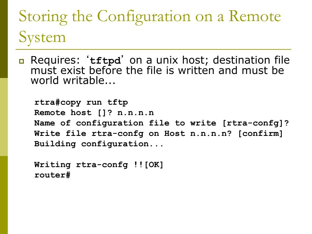 PPT - Cisco Router Configuration Basics PowerPoint