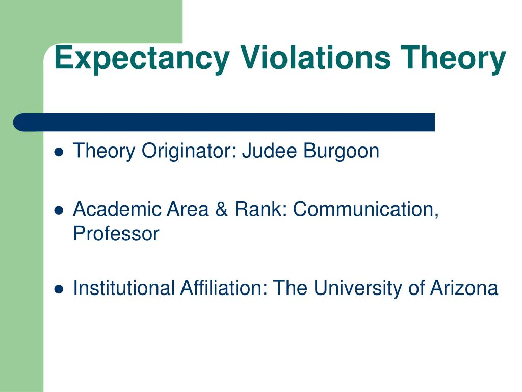 PPT - Expectancy Violations Theory PowerPoint Presentation