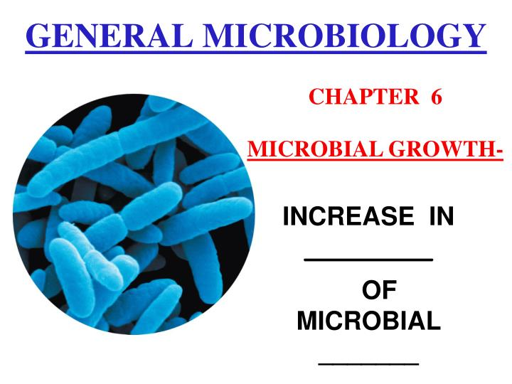 PPT - GENERAL MICROBIOLOGY PowerPoint Presentation - ID:7002112