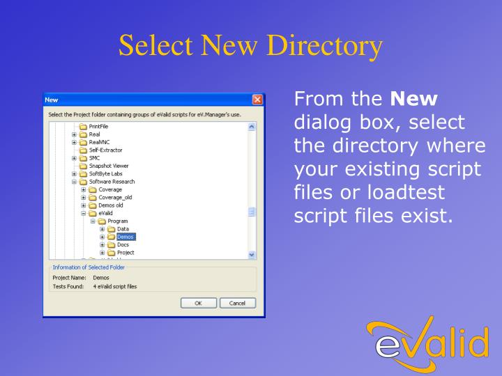 Select New Directory