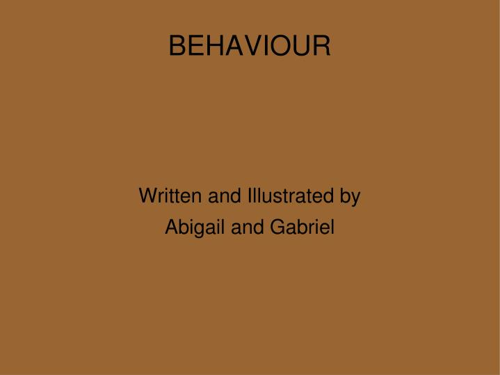 written and illustrated by abigail and gabriel n.