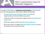 parcc s implementation support stakeholder engagement