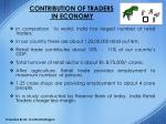 contribution of traders in economy