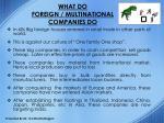 what do foreign multinational companies do