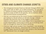 cities and climate change cont d