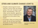 cities and climate change cont d1
