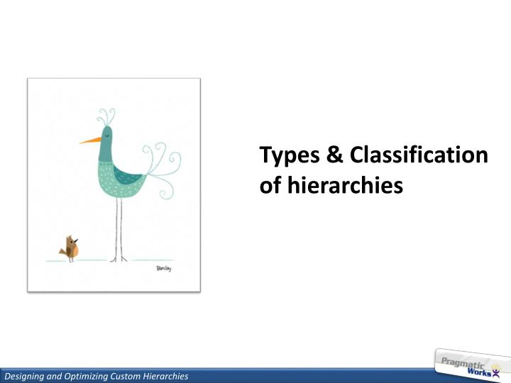 Types & Classification of hierarchies