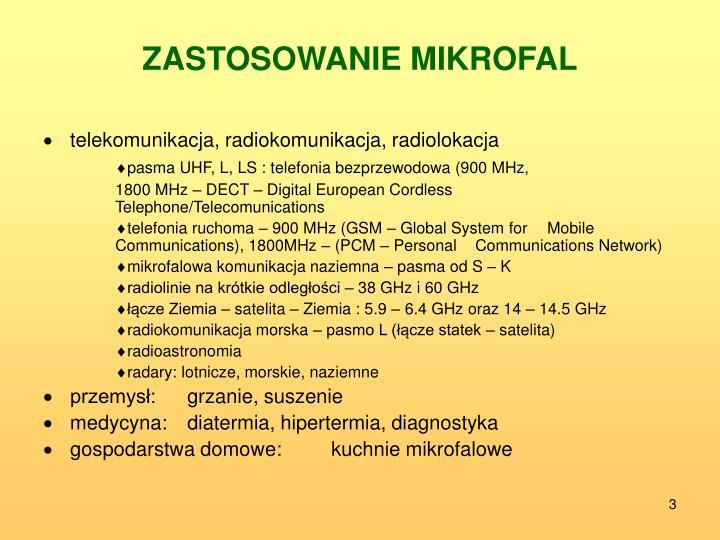 Zastosowanie mikrofal
