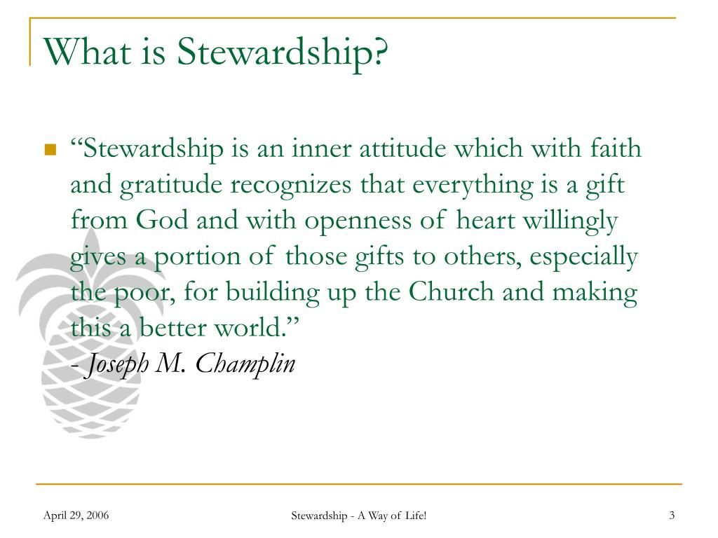 PPT - Four principles of stewardship PowerPoint ... |Stewardship Powerpoint