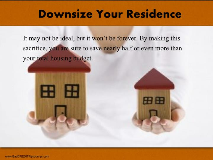Downsize Your Residence