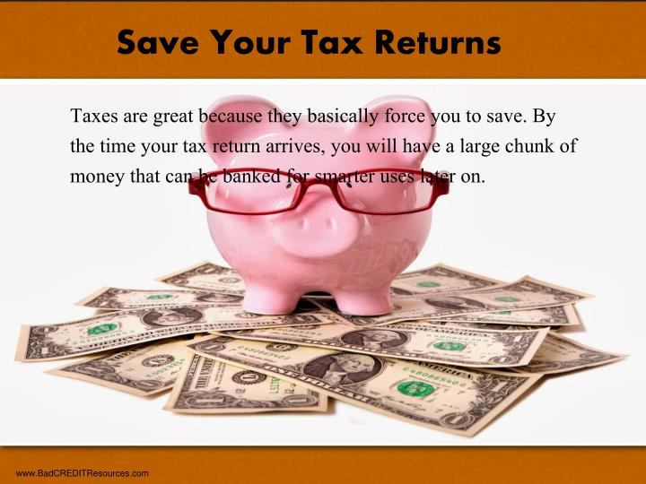 Save Your Tax Returns
