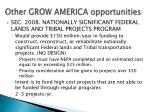 other grow america opportuni ties