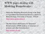 www pages dealing with modeling biomolecules2